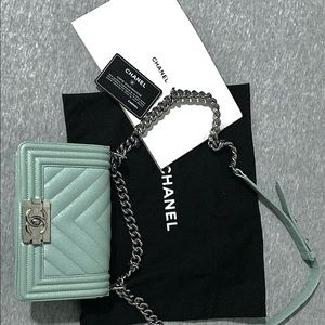 Brand new Chanel hand bag with documents.